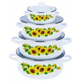 set-gatit-8-piese-emailate-sunflower