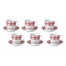set-ceai-cafea-12-piese-160-ml-cu-motive-traditionale-romanesti