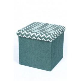 taburet-pliabil-textil-albastru