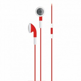 SERIOUX IN-EAR HEADPHONES VOL CTRL RED